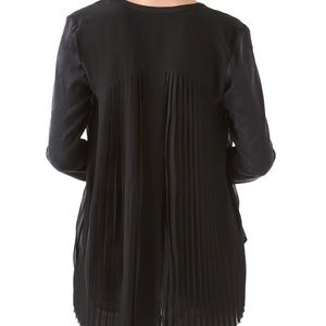 Rebecca Taylor pleated crocodile blouse